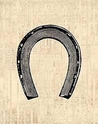 horseshoe wall art western themed print