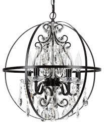 beautiful black orb chandelier houzz amalfi decor luna 5 light crystal beaded orb