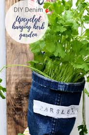 indoor herb garden planters. Upcycle Some Old Jeans To Make Unique Denim Indoor Herb Garden Planters. These Planters Also