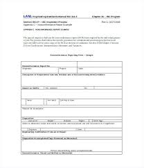Corrective Non Compliance Report Template Construction Employee ...