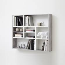 ... Stunning Design Wall Mounted Shelving Units Andreas Unit In White And  Light ...