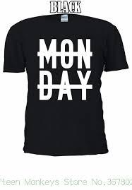 Acquista T Shirt Da Donna Con Scritta Lunedi Con Linea Tumblr T
