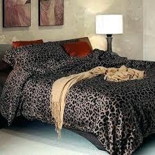 leopard print sheets brilliant animal bedding set bed decor cot uk leo