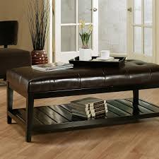 Renate Coffee Table Ottoman Oversized Leather Ottoman Coffee Table Coffee Coffee Table