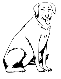 Small Picture Printable Dog Labrador coloring page from FreshColoringcom