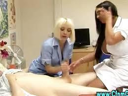 Busty femdom nurses handjob