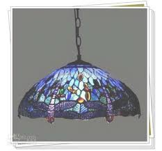 tiffany style dragonfly stained glass pendant light living room in stained glass chandelier view