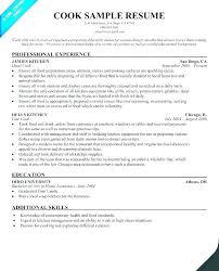 Cook Resumes Interesting Sample Cook Resume Chef Resume Sample From Sample Cook Resume Line