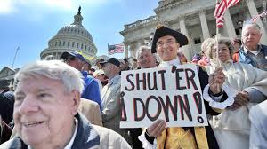 Image result for tea party shut government down pics
