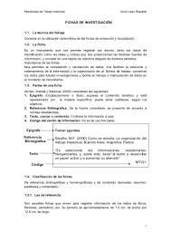 Fichas De Investigación Estilo Apa
