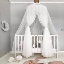 US $23.39 40% OFF|White Pink Gray Khaqi Princess Kids Crib Canopy, Nursery Canopy Bed Canopies, Play Room Nursery Playroom Decor Hanging Play Tent-in ...