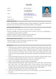 Sample Resume For Document Controller