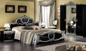 black and silver bedroom furniture. luxury black and silver bedroom furniture set decor with traditional side table lamps