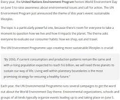 malayalam essay about world environment day