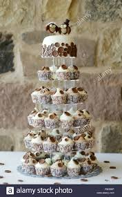 Delicious Fancy Wedding Cake Made Of Cupcakes Stock Photo 211800506