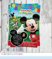 Mickey Mouse Clubhouse 2nd Birthday Invitations Mickey Mouse Invitation Mickey Mouse Clubhouse Invitation Mickey Mouse Birthday Invitation Mickey Mouse 1st 2nd 3rd Birthday Invites