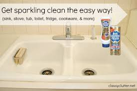 spring cleaning my secret weapon for cleaning your sink bar keepers friend bathtub