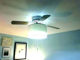 add light to ceiling fan adding a light to a ceiling fan drum shade ceiling light