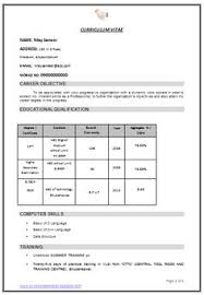 resume model for job 55 chance of getting an interview call depends on your resume