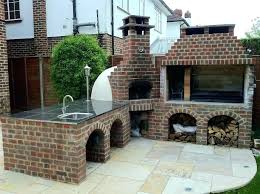 decoration outdoor fireplace with pizza oven combo plans diy