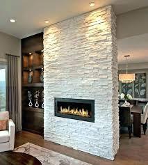 stone veneer over brick fireplace stacked