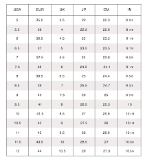 Women S Size Chart Nine West Size Chart