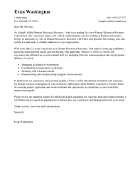 Cover Letter Sample For Hr Job Cover Letter Example For Human
