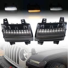 Jeep Jl Led Fender Lights For Wrangler Jl Fender Lights Led Turn Signals Led New