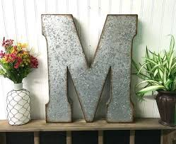 large galvanized letters metal letter inch wall decor m shabby chic country farmhouse large galvanized letters metal letter inch wall decor steel