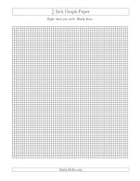 Printable Graph Paper Full Page 1 Inch 1 8 Inch Graph Paper With Black Lines A
