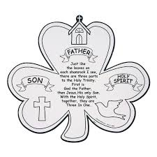 Small Picture Color Your Own Shamrock Trinity Cutouts Oriental trading Sunday