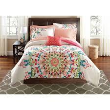 mainstays medallion bed in a bag bedding set com
