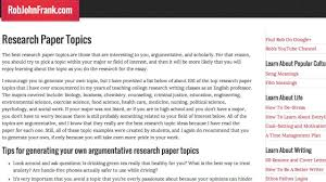 topics for business research papers research paper topics in  research paper topics top best research topics