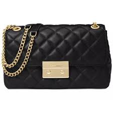 Michael Kors Large Sloan Quilted Leather Chain Shoulder Bag Black ... & Picture 1 of 4 ... Adamdwight.com