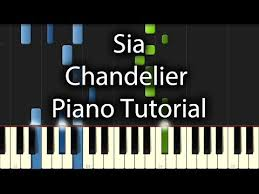 chandelier tutorial how to play on piano play