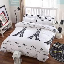 paris night eiffel tower scene reactive dyeing polyester fiber bedding sets queen size duvet cover set