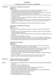 Component Engineer Sample Resume Components Engineer Resume Samples Velvet Jobs 1