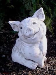 happy pig garden ornaments yard art