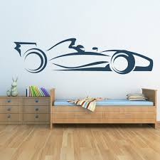 f1 race car wall sticker transport wall decal boys bedroom nursery home decor