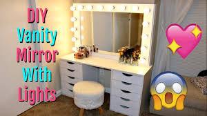 makeup mirror lighting. DIY Vanity Mirror With Lights | Under $150 Makeup Lighting M