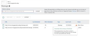 bing webmaster tools shows xml error for valid sitemap xml
