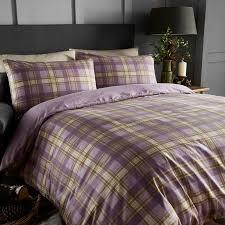 cosy nights arran super king duvet cover set heather