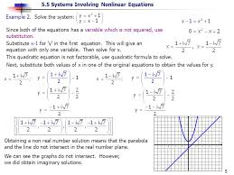 5 5 systems involving nar equations 5 example 2