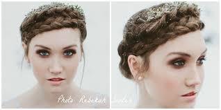 braid halo bronze smokey eye hair eve whitington photographer rebekah sentur