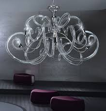 modern chandelier contemporary chandelier with clear murano glass bal1806x6