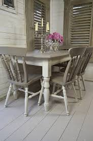 dining room grey chairs chair with arms covers gray slipcovers slip shabby chic table set this