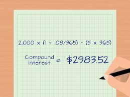 Savings Compound Interest Chart How To Calculate Daily Interest With Cheat Sheet Wikihow