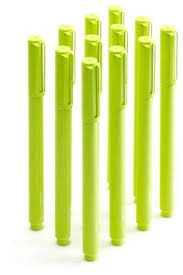 lime green office accessories. signature pen, lime green, box of 12 modern-desk-accessories green office accessories o