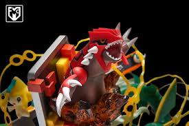In Stock】MFC Studio Pokemon GBA vol.3 Aeroamphibious Rayquaza Kyogre Resin  Statue