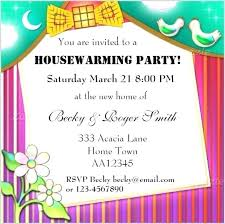 Housewarming Party Invitation Luxury Free Templates Office